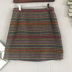 Anthropologie Kaisley Multicolor Stripe Miniskirt